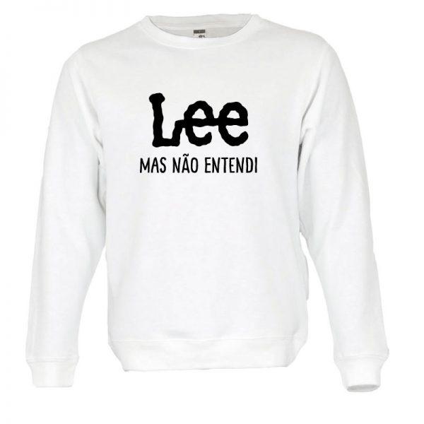 Sweatshirt Lee mas não entendi