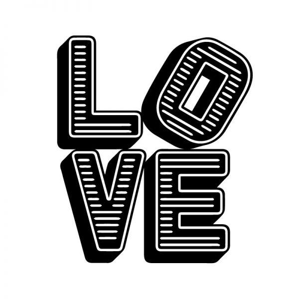 Palavra Love blocos de letras autocolante de parede