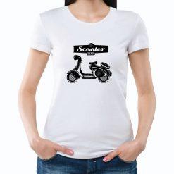 T-shirt Scooter Time. T-Shirts unissexo 100% Algodão, moderna e básica de manga curta com visual contemporâneo
