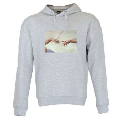 Sweatshirt com capuz Michelangelo mãos
