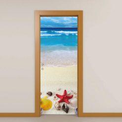 Mar e Conchas autocolante para portas