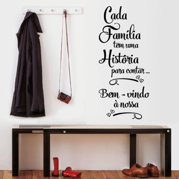 Cada família tem uma historia para contar autocolante para paredes