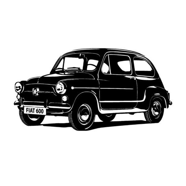 vinil autocolante decorativo Fiat 600