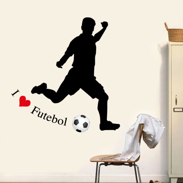 I love futebol autocolante