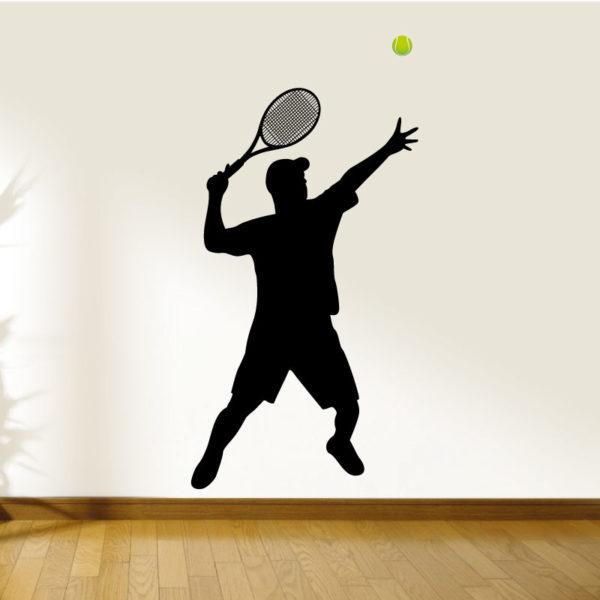 Jogador de ténis autocolante de parede