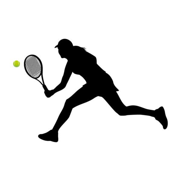 Jogadora de ténis autocolante de parede